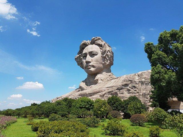 Changasha kamenná hlava