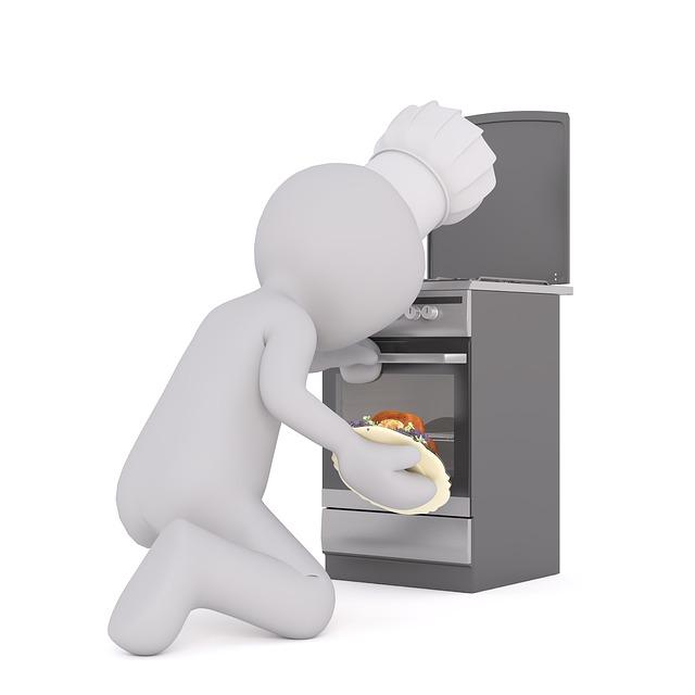 panáček kuchař, sporák, jídlo